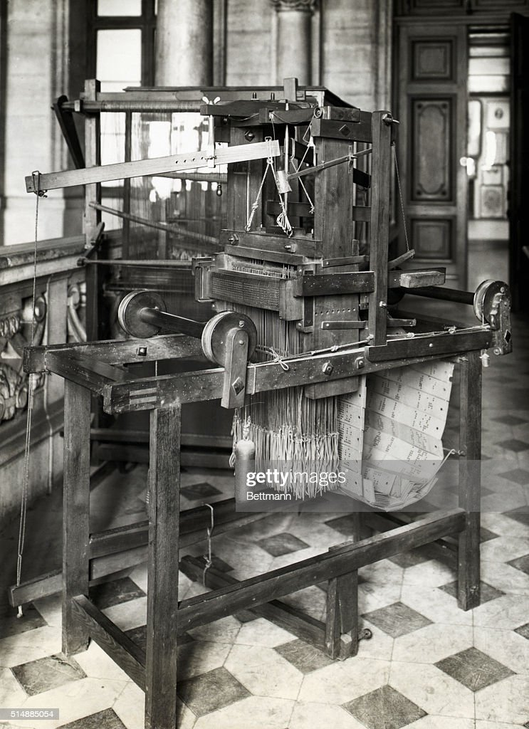 Original model of the loom invented by Jacquard utilizing punched cards Photograph BPA2#4975