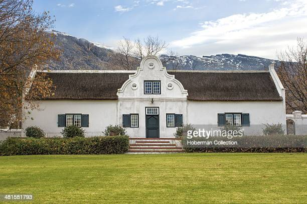 Original Old Manor House With Snow On the Matroosberge At Clovelly Farm In De Doorns In The Hex River Valley District Of The Cape Winelands