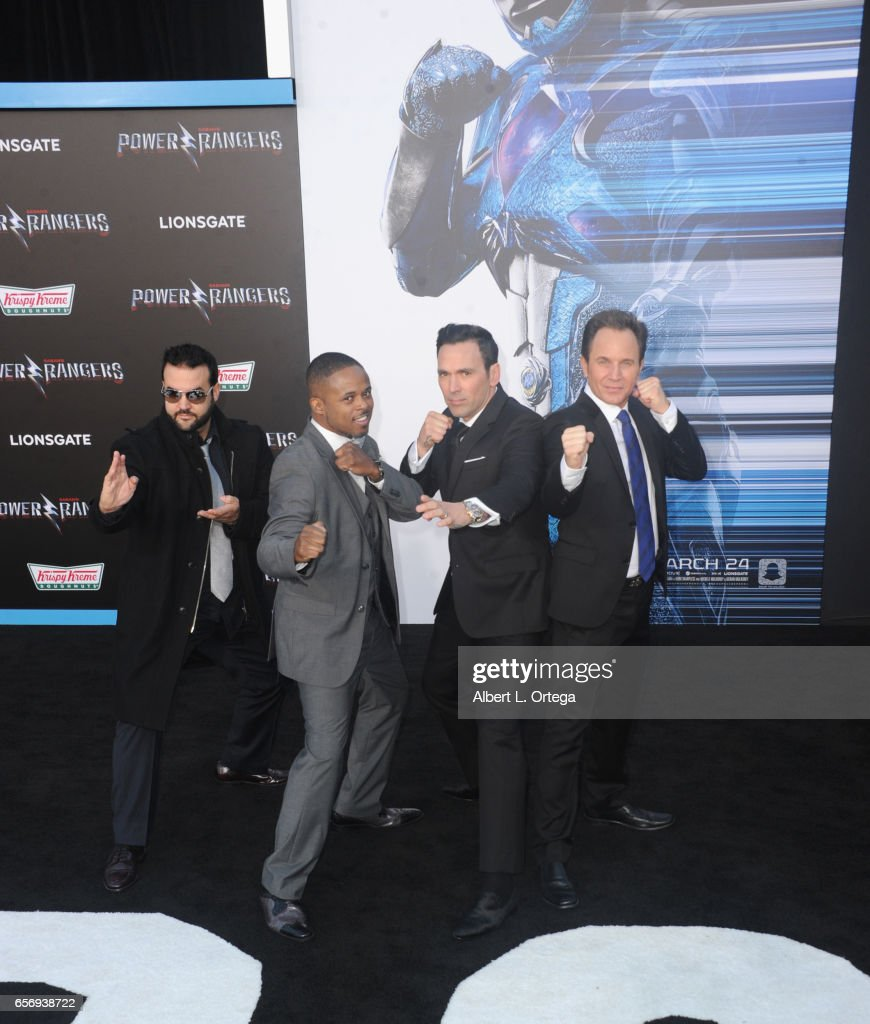 original power rangers austin st john walter jones jason david frank and david yost at the