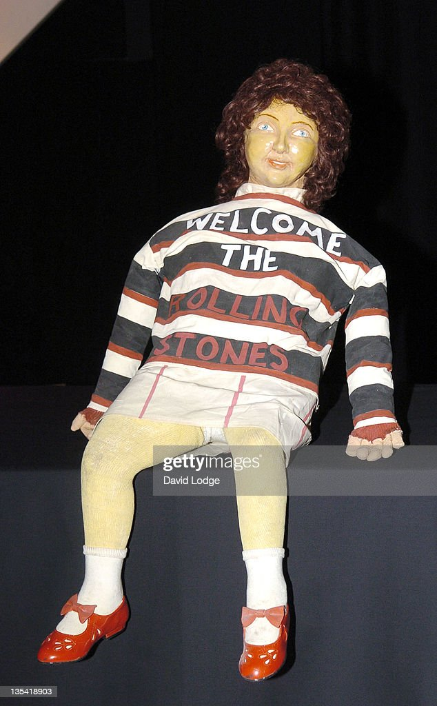 Original prop doll with <a gi-track='captionPersonalityLinkClicked' href=/galleries/search?phrase=Rolling+Stones&family=editorial&specificpeople=85170 ng-click='$event.stopPropagation()'>Rolling Stones</a> shirt from the Beatles' 'Sgt. Pepper's Lonely Hearts Club Band' 1967 album cover
