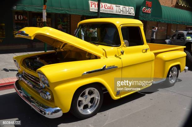 Original stock 1958 Chevy Apache pickup on display at the Hot August Nights Custom Car Show the largest nostalgic car show in the world on August 10...