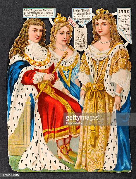 Original Victorian chromolithograph featuring left to right King William III II and 8 In Victorian Britain the keeping of scrapbooks was a popular...