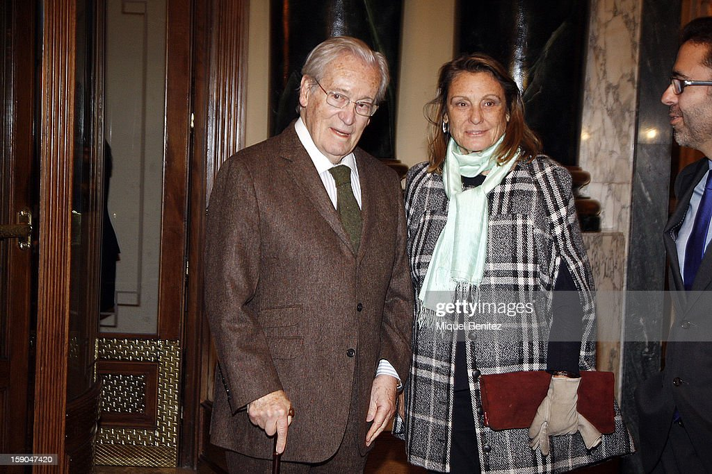 Oriol Bohigas and Beth Gali attend the 69th Nadal literature award on January 6, 2013 in Barcelona, Spain.