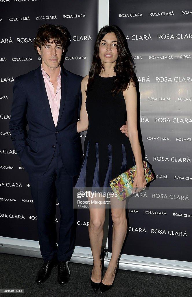 Oriol Elcacho and Davinia Pelegri attend the Rosa Clara fashion show during 'Barcelona Bridal Week 2014' on May 6, 2014 in Barcelona, Spain.