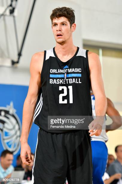 Oriol Pauli of the Orlando Magic looks on during the game against the New York Knicks during the 2017 Orlando Summer League on July 5 2017 at Amway...