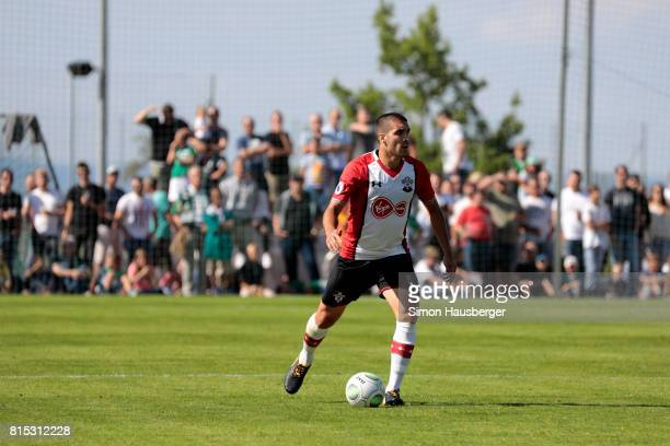 Oriol Romeu from FC Southampton in action during the preseason friendly match between FC Southampton and St Gallen at Sportanlage Kellen on July 15...