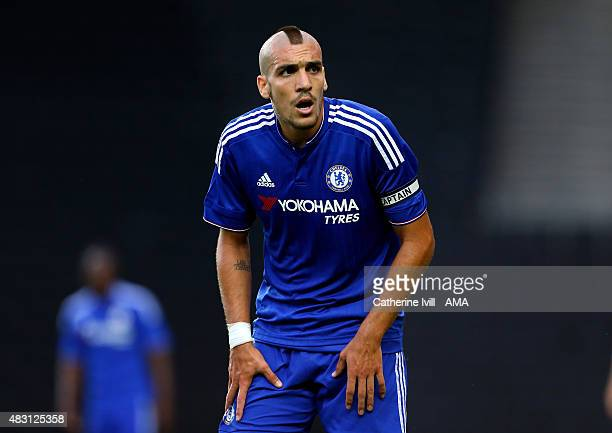Oriol Romeu of Chelsea during the preseason friendly between MK Dons and a Chelsea XI at Stadium mk on August 3 2015 in Milton Keynes England