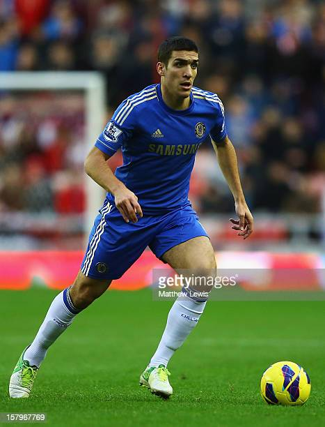 Oriol Romeu of Chelsea in action during the Barclays Premier League match between Sunderland and Chelsea at Stadium of Light on December 8 2012 in...