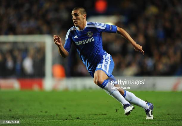 Oriol Romeu of Chelsea in action during the UEFA Champions League group E match between Chelsea and Genk at Stamford Bridge on October 19 2011 in...