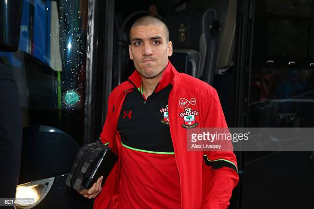 Oriol Romeu of Southampton arrives prior to the Premier League match between Hull City and Southampton at KC Stadium on November 6 2016 in Hull...