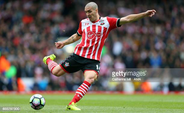 Oriol Romeu of Southampton during the Premier League match between Tottenham Hotspur and Southampton at White Hart Lane on March 19 2017 in London...