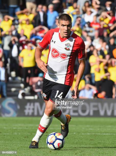 Oriol Romeu of Southampton during the Premier League match between Southampton and Watford at St Mary's Stadium on September 9 2017 in Southampton...