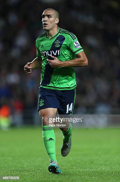 Oriol Romeu of Southampton in action during the Capital One Cup Third Round match between MK Dons and Southampton at Stadium mk on September 23 2015...