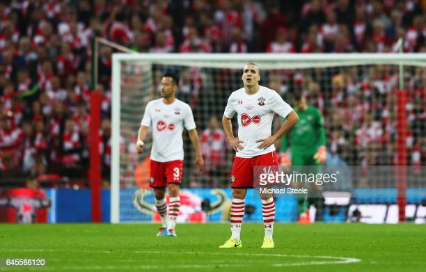 Oriol Romeu of Southampton looks on during the EFL Cup Final match between Manchester United and Southampton at Wembley Stadium on February 26 2017...