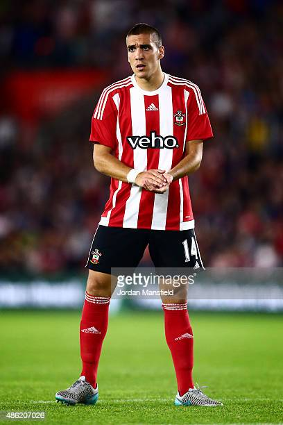Oriol Romeu of Southampton looks on during the UEFA Europa League Play Off Round 1st Leg between Southampton and Midtjylland at St Mary's Stadium on...