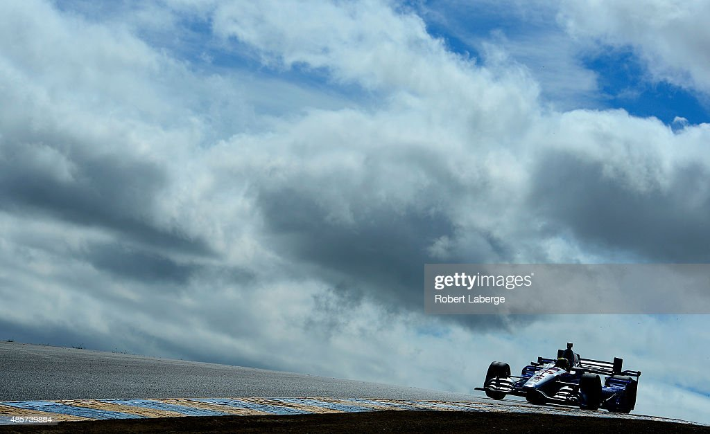 Oriol Servia of Spain driver of the Andretti Autosport Chevrolet Dallara during practice for the Verizon IndyCar Series GoPro Grand Prix of Sonoma at...