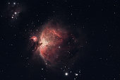 The Orion Nebula photographed from Wachenheim im in Germany.