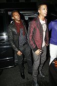 Oritse Williams and Marvin Humes of JLS attend party to celebrate JLS' number 1 single on July 21 2009 in London England