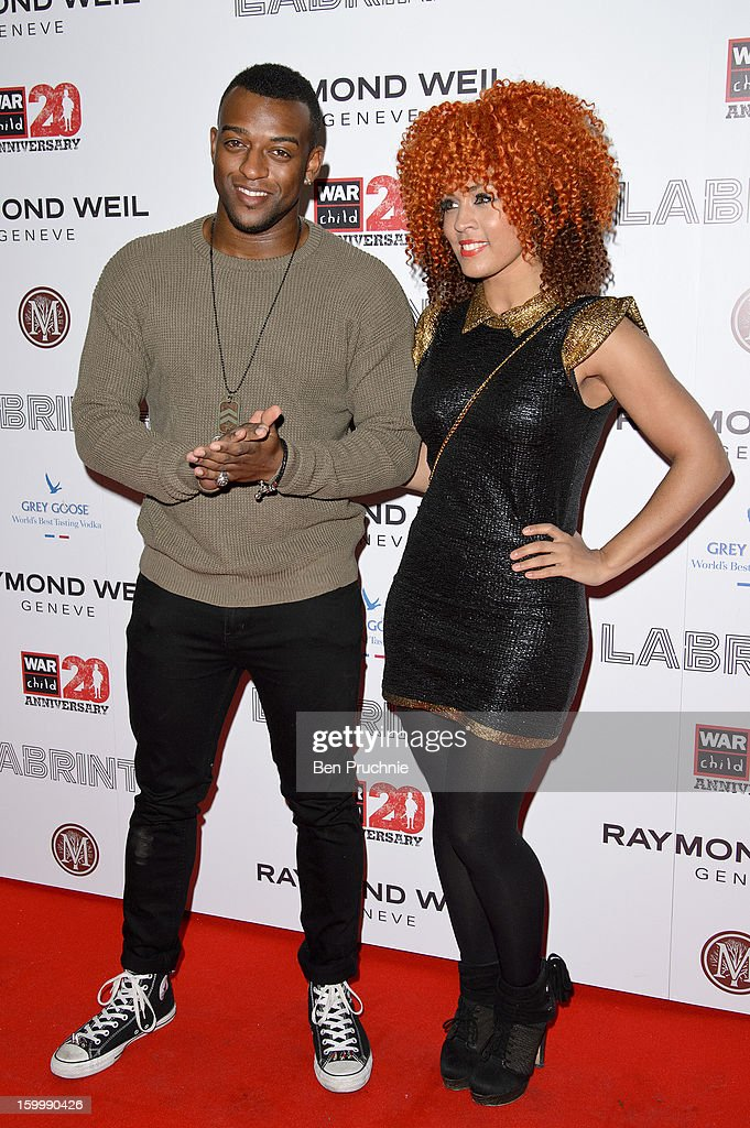 Oritse Williams attends the Raymond Weil pre-Brit Awards dinner and 20th anniversary celebration of War Child at The Mosaica on January 24, 2013 in London, England.