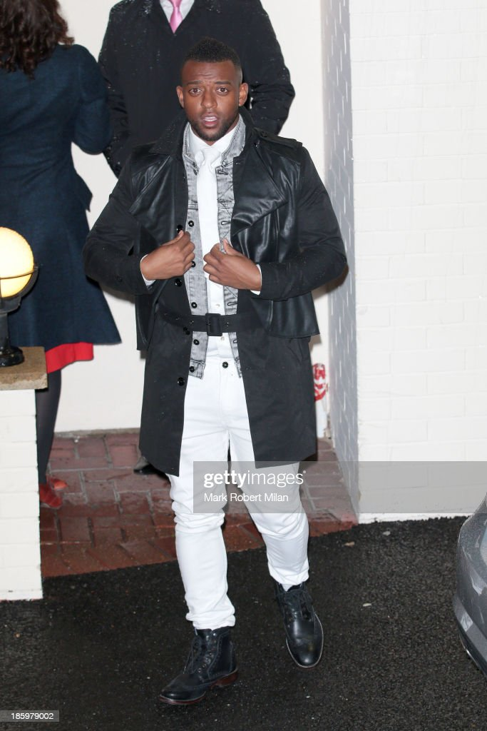<a gi-track='captionPersonalityLinkClicked' href=/galleries/search?phrase=Oritse+Williams&family=editorial&specificpeople=5739700 ng-click='$event.stopPropagation()'>Oritse Williams</a> leaving Fountain Studios after filming the X Factor live show on October 26, 2013 in London, England.