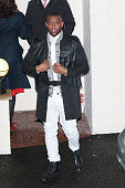 Oritse Williams leaving Fountain Studios after filming the X Factor live show on October 26 2013 in London England