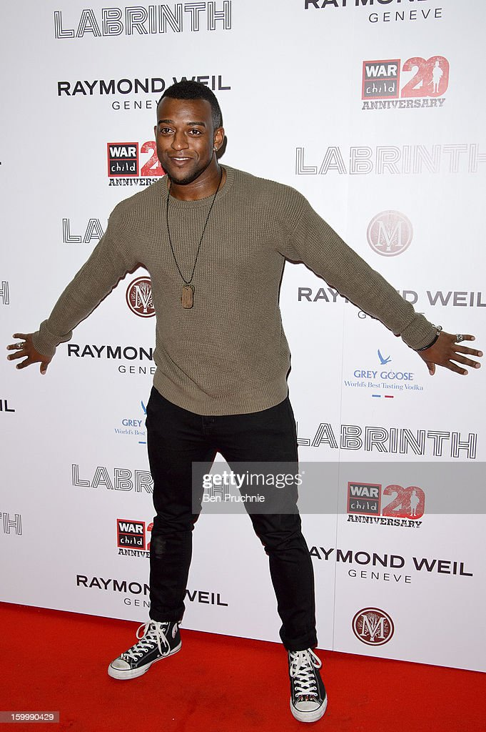 <a gi-track='captionPersonalityLinkClicked' href=/galleries/search?phrase=Oritse+Williams&family=editorial&specificpeople=5739700 ng-click='$event.stopPropagation()'>Oritse Williams</a> of JLS attends the Raymond Weil pre-Brit Awards dinner and 20th anniversary celebration of War Child at The Mosaica on January 24, 2013 in London, England.