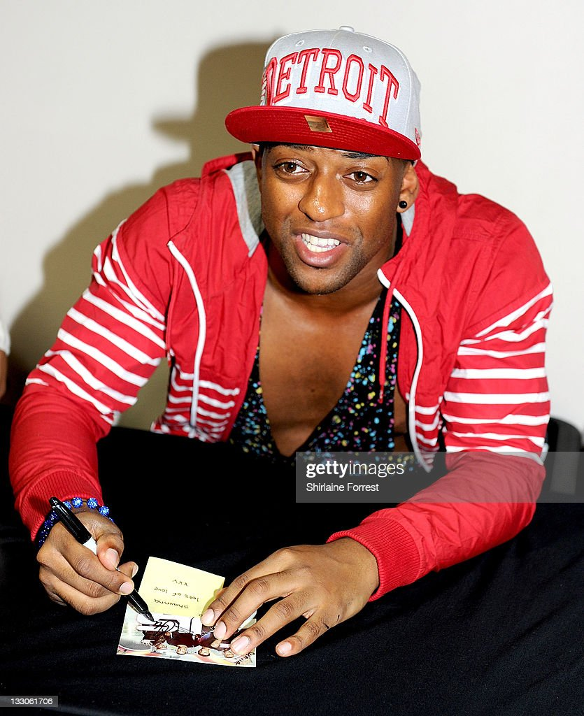 Oritse Williams of JLS meets fans and signs copies of their new album 'Jukebox' at HMV on November 16, 2011 in Manchester, England.
