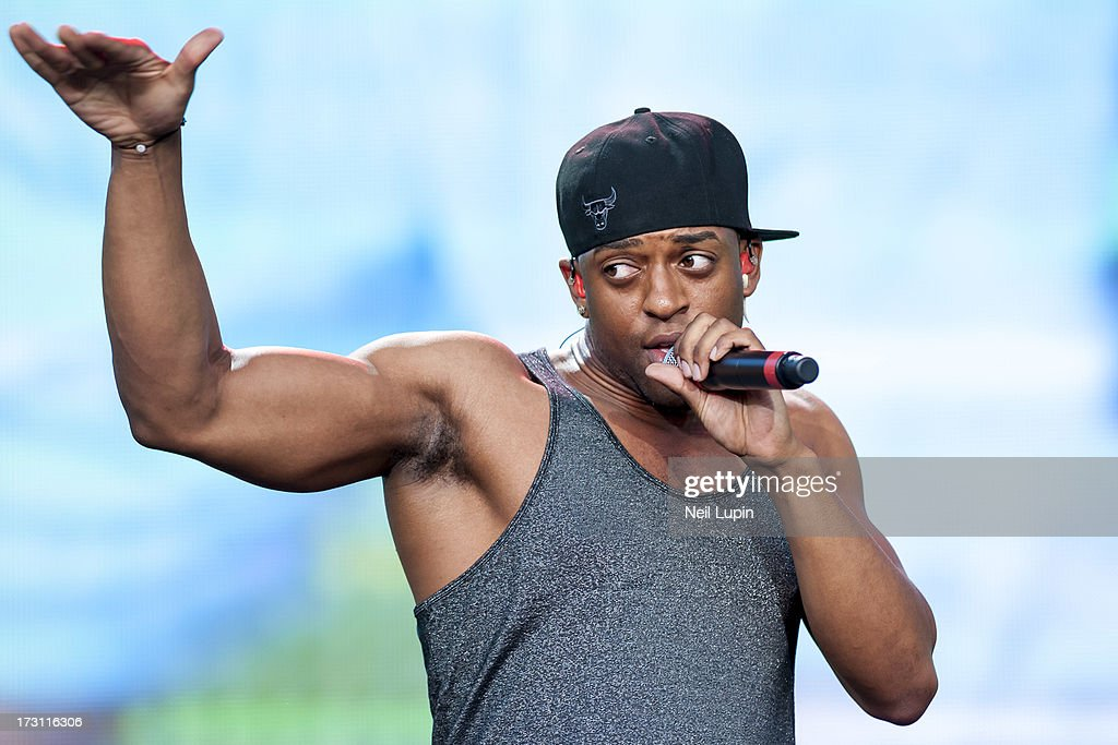 <a gi-track='captionPersonalityLinkClicked' href=/galleries/search?phrase=Oritse+Williams&family=editorial&specificpeople=5739700 ng-click='$event.stopPropagation()'>Oritse Williams</a> of JLS performs at day 3 of British Summer Time Hyde Park presented by Barclaycard at Hyde Park on July 7, 2013 in London, England.