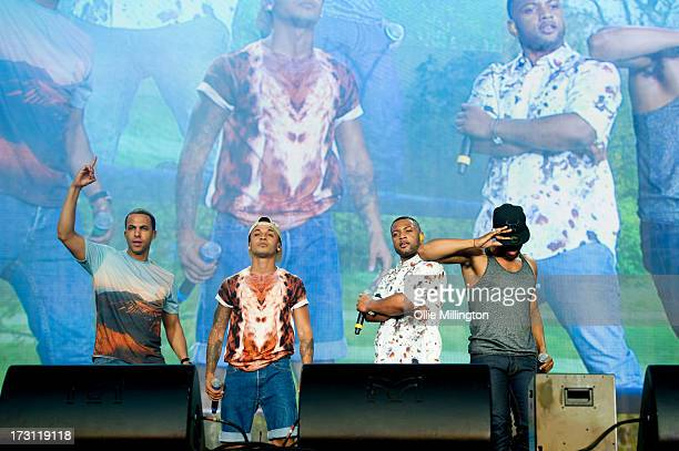 Oritse Williams of JLS performs onstage headlining day 3 of British Summer Time Hyde Park presented by Barclaycard at Hyde Park on July 7 2013 in...
