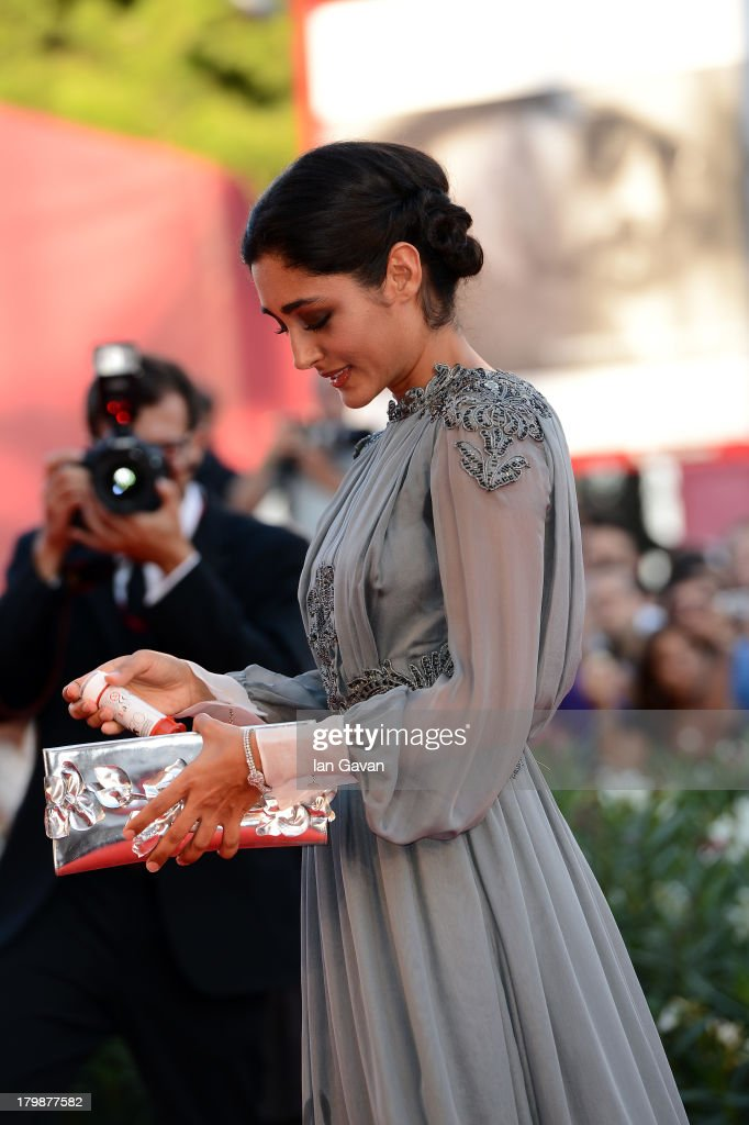 Orizzonti Jury member Iranian actress <a gi-track='captionPersonalityLinkClicked' href=/galleries/search?phrase=Golshifteh+Farahani&family=editorial&specificpeople=5535488 ng-click='$event.stopPropagation()'>Golshifteh Farahani</a> wears a Jaeger-LeCoultre Vintage Couvercle watch on the red carpet during the Closing Ceremony of the 70th Venice International Film Festival at Palazzo del Cinema on September 7, 2013 in Venice, Italy.