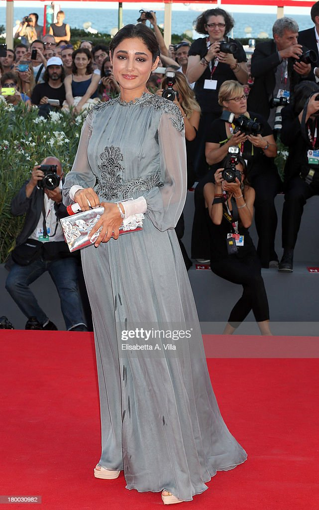 Orizzonti Jury member Iranian actress Golshifteh Farahani wears a Jaeger-LeCoultre Vintage Couvercle watch on the red carpet during the Closing Ceremony of the 70th Venice International Film Festival at Palazzo del Cinema on September 7, 2013 in Venice, Italy.