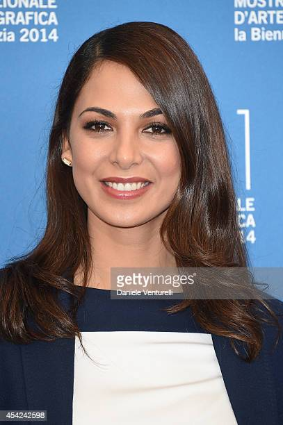 Orizzonti Jury Member Moran Atias attends the Opening Photocall during the 71st Venice International Film Festival on August 27 2014 in Venice Italy