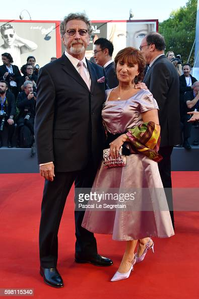 'Orizzonti' jury president Robert Guediguian and Ariane Ascaride attend the opening ceremony and premiere of 'La La Land' during the 73rd Venice Film...