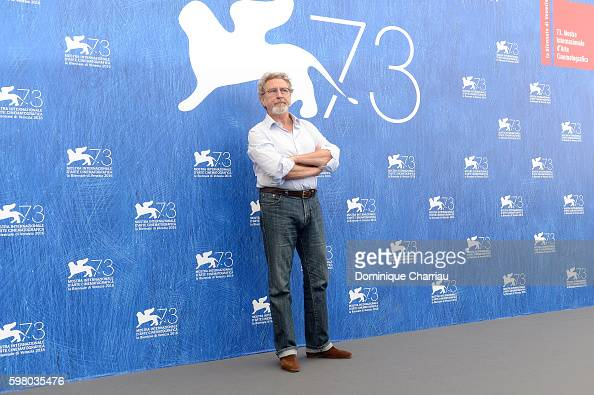 'Orizzonti' jury president Robert Guediguian attends the photocall of the jury during the 73rd Venice Film Festival on August 31 2016 in Venice Italy