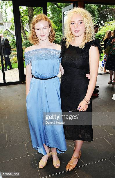 Orla Hill and Seren Hawkes attend a drinks reception during the World Premiere of 'Swallows and Amazons' at Theatre by the Lake on July 24 2016 in...