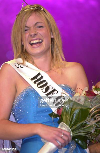 Orla Tobin from Dublin after winning the Rose of Tralee International Festival 2003 a personality contest for young women of Irish heritage in Tralee...