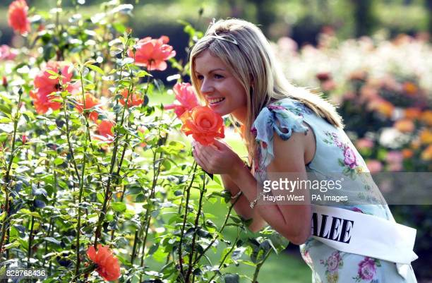 Orla Tobin from Dublin poses in Tralee Park after winning the Rose of Tralee International Festival 2003 The festival is a personality contest for...