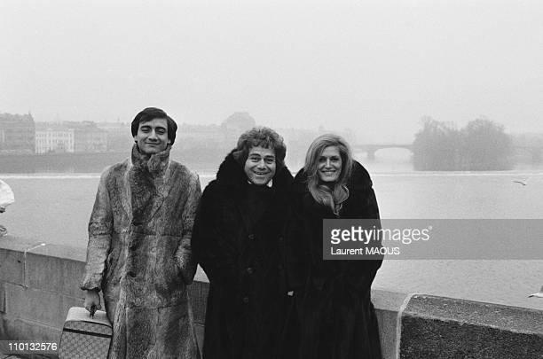 Orlando and Dalida in Prague Czech Republic on December 18 1977