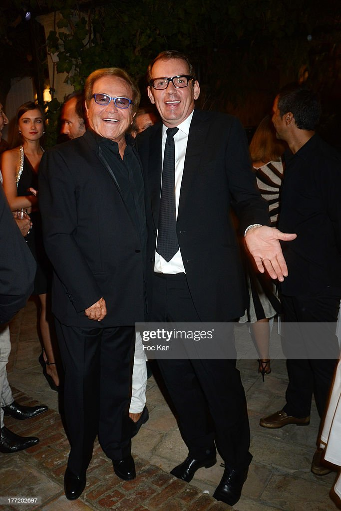 Orlando and Michel Leclerc attend the Massimo Gargia's Birthday Dinner at Moulins de Ramatuelle on August 21, 2013 in Saint Tropez, France.