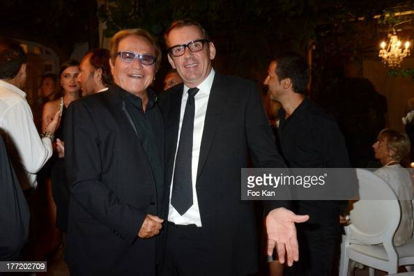 Orlando and Michel Leclerc attend the Massimo Gargia's Birthday Dinner at Moulins de Ramatuelle on August 21 2013 in Saint Tropez France