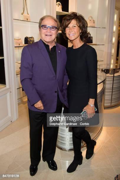 Orlando and Sylvie Rousseau attend 'La Fete Des Vendanges' at Dior Avenue Montaigne on September 14 2017 in Paris France