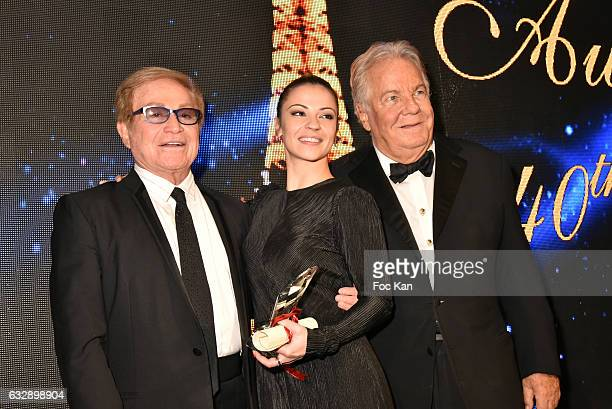 Orlando awarded Denitsa Ikonomova and Massimo Gargian attend 'The Best Award Gala 40th Edition' at Four Seasons George V Hotel on January 27 2017 in...