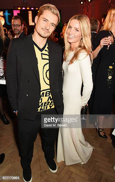 Orlando Bloom and Annabelle Wallis attend the Stella McCartney Menswear launch and Women's Spring 2017 collection presentation at Abbey Road Studios...