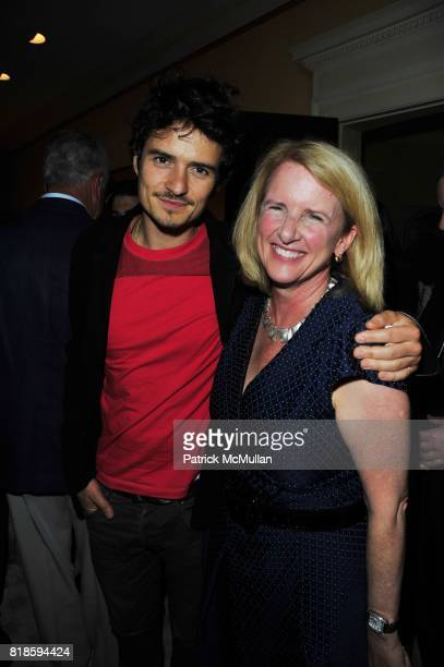 Orlando Bloom and Anne McNutley attend Dinner party to celebrate The Child Mind Institute's 2010 Adam Jeffrey Katz Memorial Lecture Series at The...