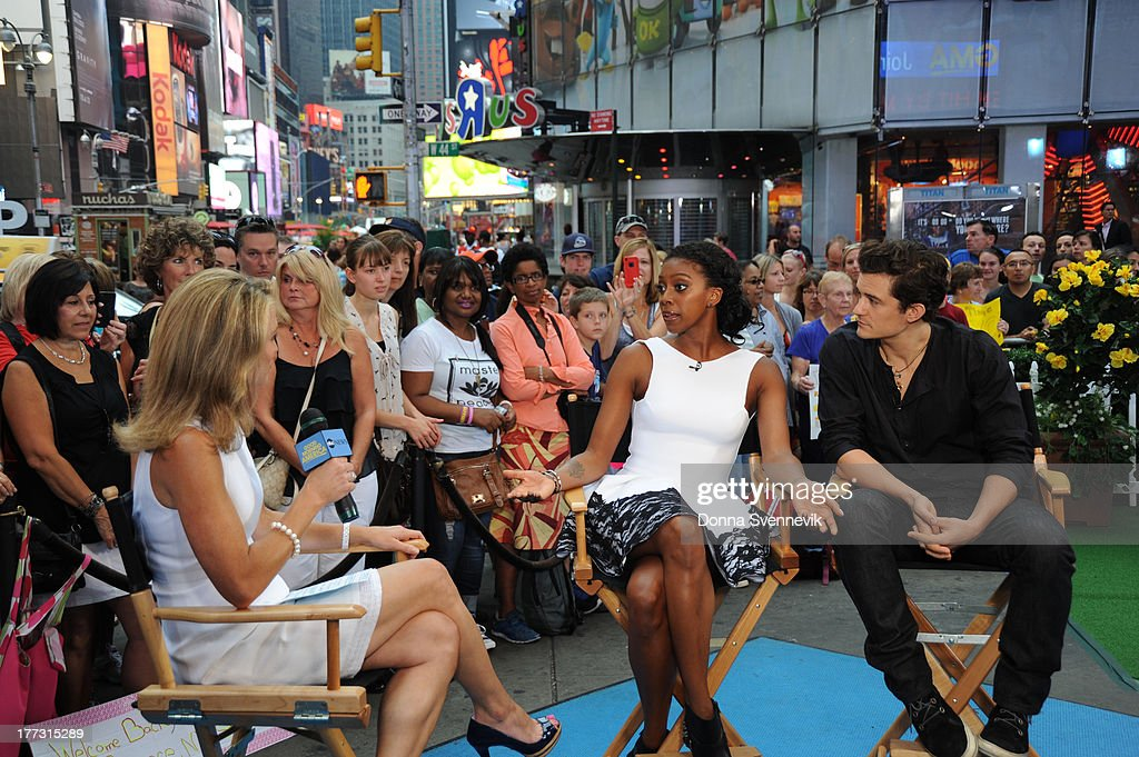 AMERICA - Orlando Bloom and Condola Rashad are guests on 'Good Morning America,' 8/22/13, airing on the ABC Television Network. (Photo by Donna Svennevik/ABC via Getty Images) AMY