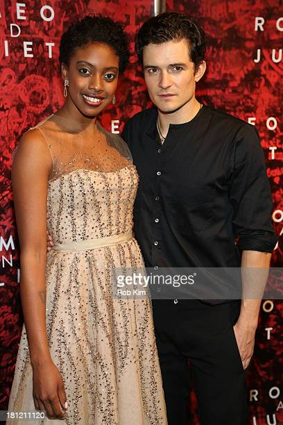 Orlando Bloom and Condola Rashad attend 'Shakespeare's Romeo And Juliet' Broadway opening night after party at The Edison Ballroom on September 19...