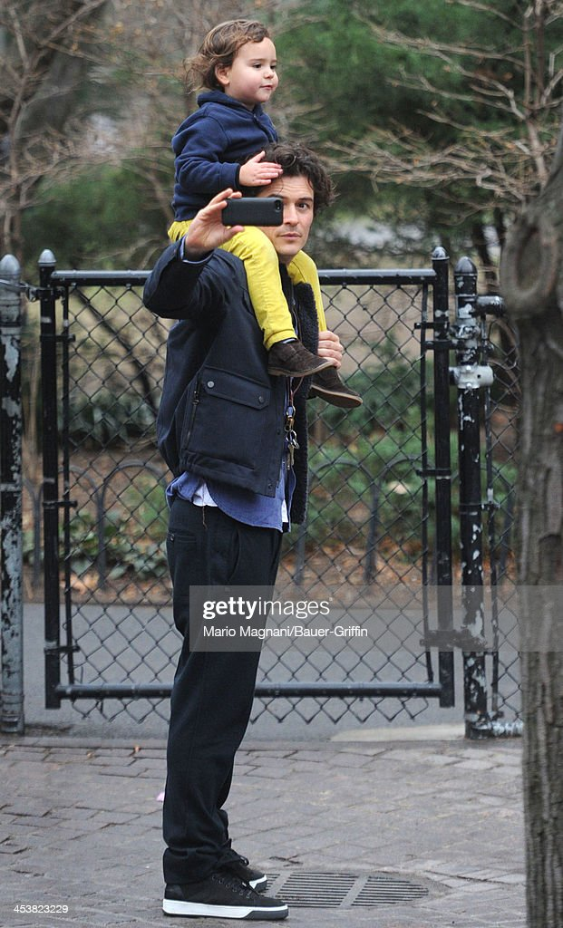 <a gi-track='captionPersonalityLinkClicked' href=/galleries/search?phrase=Orlando+Bloom&family=editorial&specificpeople=202520 ng-click='$event.stopPropagation()'>Orlando Bloom</a> and his son <a gi-track='captionPersonalityLinkClicked' href=/galleries/search?phrase=Flynn+Bloom&family=editorial&specificpeople=8325201 ng-click='$event.stopPropagation()'>Flynn Bloom</a> are seen on December 5, 2013 in New York City.