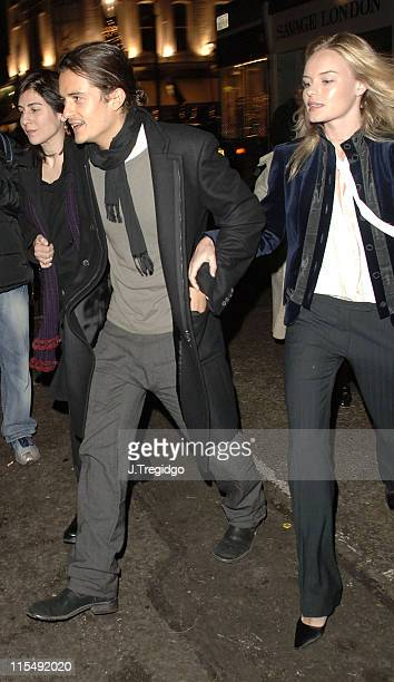 Orlando Bloom and Kate Bosworth during Grand Classics 'Annie Hall' Screening December 12 2005 at The Electric Cinema in London Great Britain
