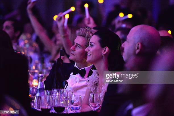 Orlando Bloom and Katy Perry attend the 12th annual UNICEF Snowflake Ball at Cipriani Wall Street on November 29 2016 in New York City