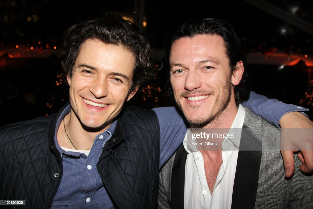 <a gi-track='captionPersonalityLinkClicked' href=/galleries/search?phrase=Orlando+Bloom&family=editorial&specificpeople=202520 ng-click='$event.stopPropagation()'>Orlando Bloom</a> and Luke Evans pose at the 'No Man's Land' & 'Waiting For Godot' Opening Night after party at the Bryant Park Grill on November 24, 2013 in New York City.